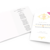 Upload your own file wedding order of service mockup