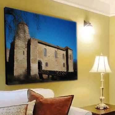 Colchester Castle Card 'Canvas' Wall Art