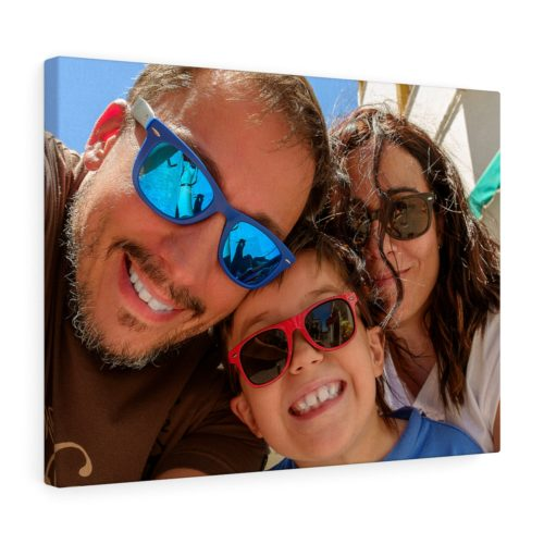 Family Photo On Stretched Canvas